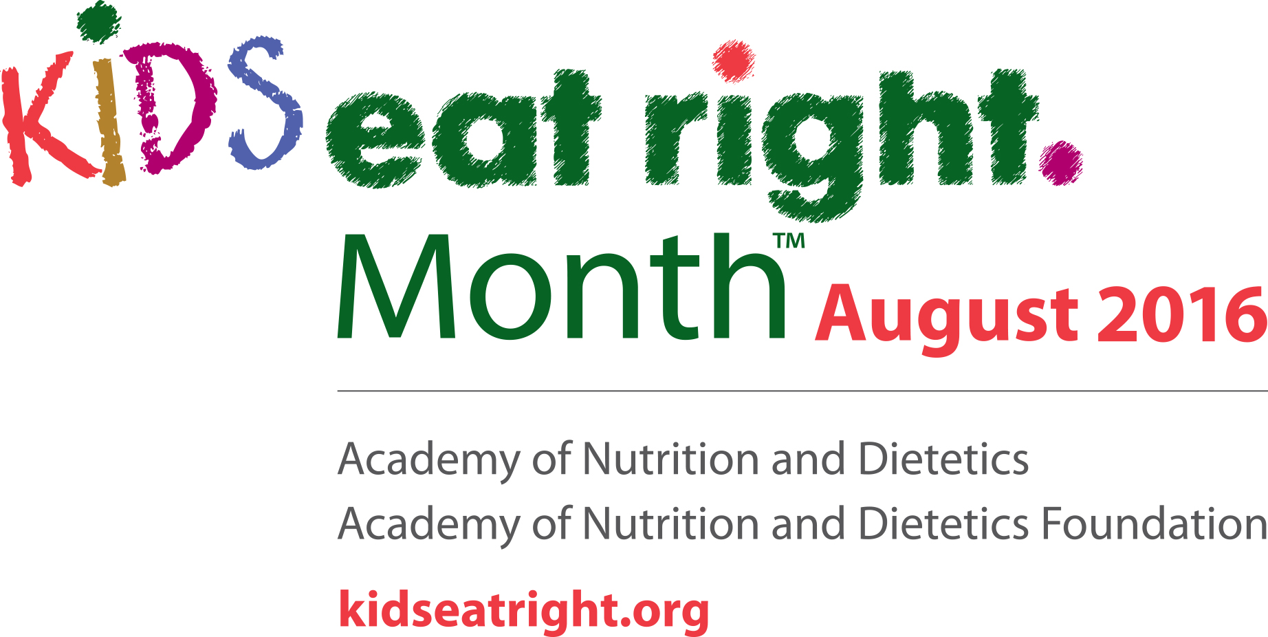 Kids Eat Right Month Logo